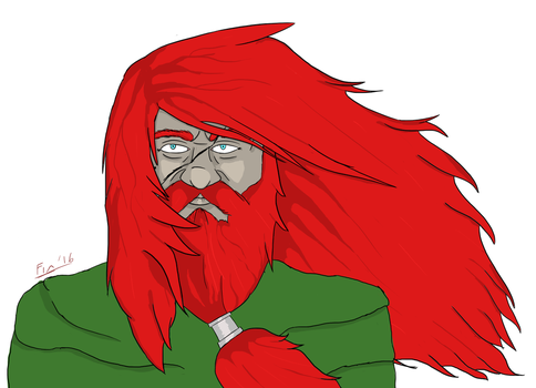 Teldek the Red - Dwarven DnD Character by Finblade