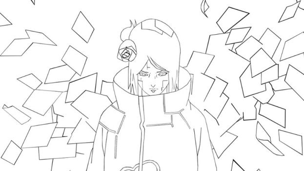 Konan Line Art by exkiiL