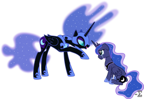 Nightmare Moon Torments Princess Luna by 90Sigma