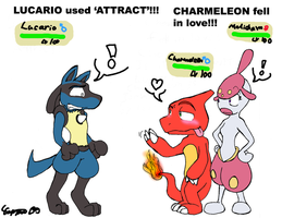 Lucario uses Attract by Rochejii