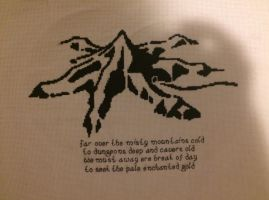 Lonely Mountain Cross Stitch by Musicisaportal