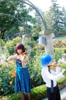 LCO: Violinists In Rose Garden by Rolen-YP-S3