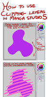Manga Studio 5 Clipping Layer Tutorial by lapinbeau