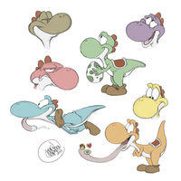 Yoshi Parade by SharpDressedReptile