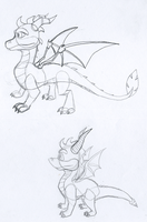 Spyro- New and old by Mariannefosho