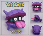 Shellder Pokedoll Papercraft by PaperBuff