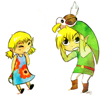 Link and Aryll by The-EverLasting-Ash