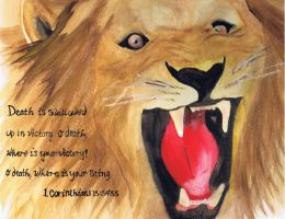 Lion of Judah Roaring Over Death by FaisanDore