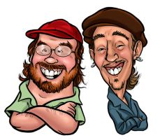 Ted and Tony caricatures by andrewchandler80