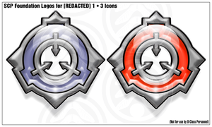 SCP Logo Icons [REDACTED] 1 by Phaeton99
