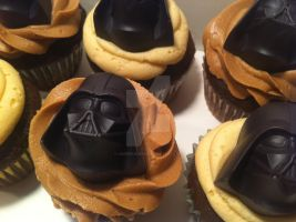 Darth Vader Cupcakes by Corpse-Queen