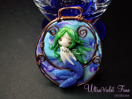Polymer Clay - Mermaid by UltraVioletCreations