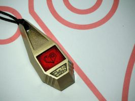 Digimon Tag with Sora's Crest of Love (view 1) by ChinookCrafts