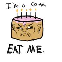 heres a cake. by sheepscoot