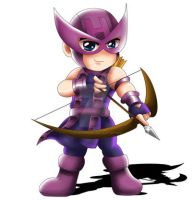 Hawkeye Chibi by ExoroDesigns