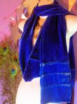 Royal Cobalt Blue Velvet Scarf by MimiMadlight13