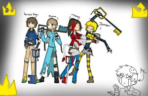 Famous Keyblade Masters part2 by ArtzEnzero