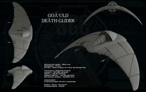 Goa'uld Death Glider ortho by unusualsuspex