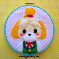 Isabelle Animal Crossing: New Leaf Hoop by iggystarpup
