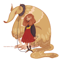 A Girl and Her Pet Mutant Anteater by MaryAQuiteContrary