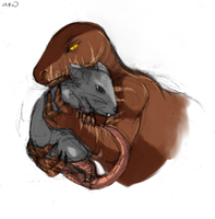 Dinobot-Rattrap sketch by Atlas-White
