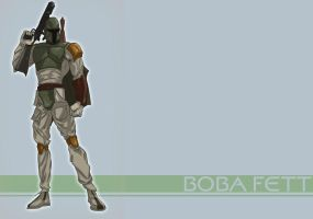 Boba Fett - wallpaper by Juggertha