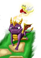 Spyro the Dragon by T-Wolfie