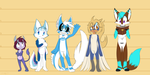 [Comm] Character Lineup by SmilehKitteh