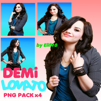Demi Lovato Png Pack x4 by Elif98