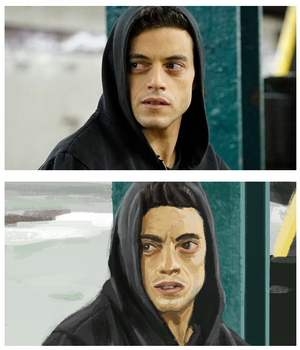 Frame study - Mr. robot by Kaboio