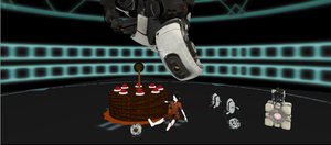 Gaint Cake For Chell by MMDGLaDOS