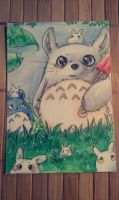 Little Totoro Card by Nadi-Chan