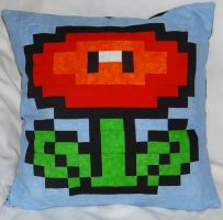 Fire Flower Pillow by quiltoni
