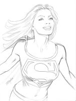 Supergirl Study by mikemayhew
