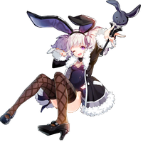 Aisha Bunny Suit (Black) Skill Cut-in #3 by AniHimeAi