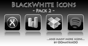 BlackWhite Icons Pack 2 by OOmatrixOO