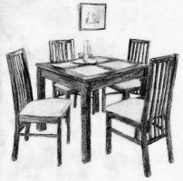 Dining set by cloudybrain
