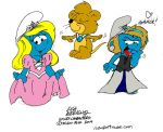 Second Draft: Smurfette The First by NewportMuse