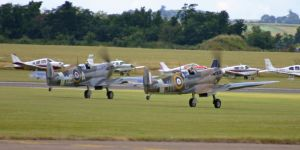 two spitfires getting airboune by Sceptre63