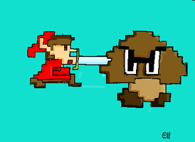 Link VS the Goomba by ZhaneAugustine