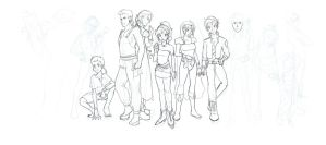 Final Fantasy 6 Cast WIP by TheCatlady