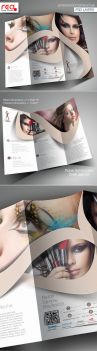 Beauty Salon Trifold Brochure Template by Redshinestudio