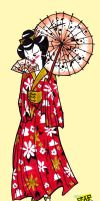 Geisha Tattoo Design by after-the-funeral