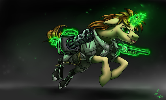 Heavy weapons mare by gonedreamer