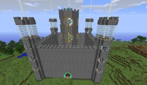 a new minecraft castle by cynderplayer