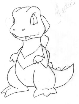 WIP Markus the Totodile by Kyotai9
