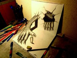 3D Drawing - Monster that emerged by NAGAIHIDEYUKI