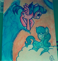 OIL PASTELS: Firefly and Medley by StarrenPiece