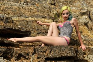 corset and rock ledge by KateEllenF