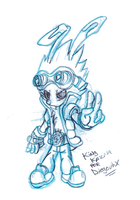 Chibi King Kazma sketch by diegouhX